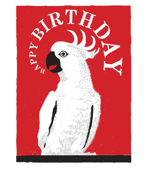 Grußkarte - Parrot Happy...