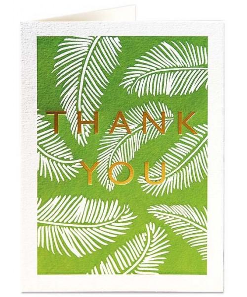 Grußkarte - Thank You Ferns