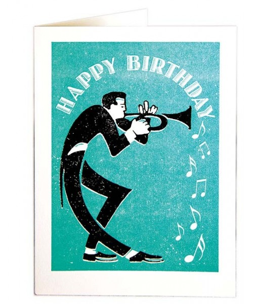 Grußkarte - Trumpet Happy...