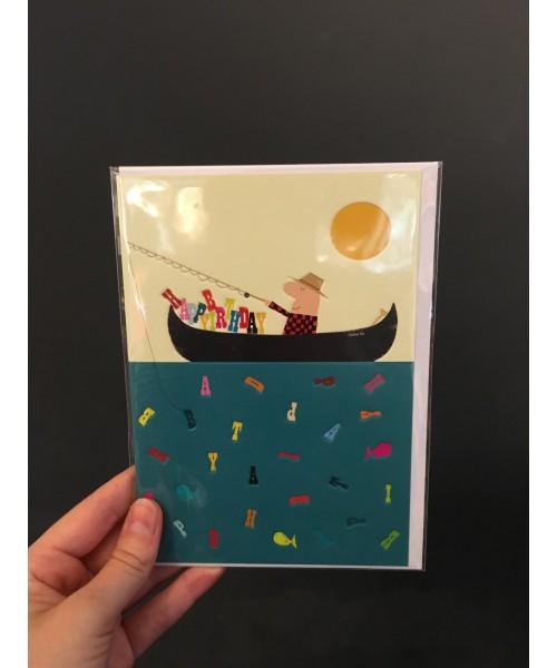 Grußkarte - Angler Happy...