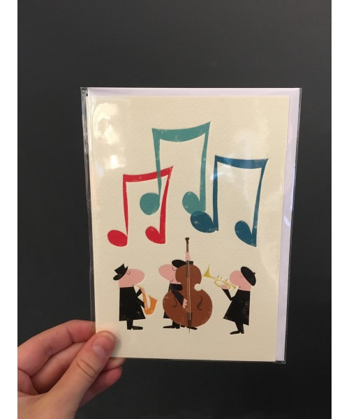 Grußkarte - Band Happy...