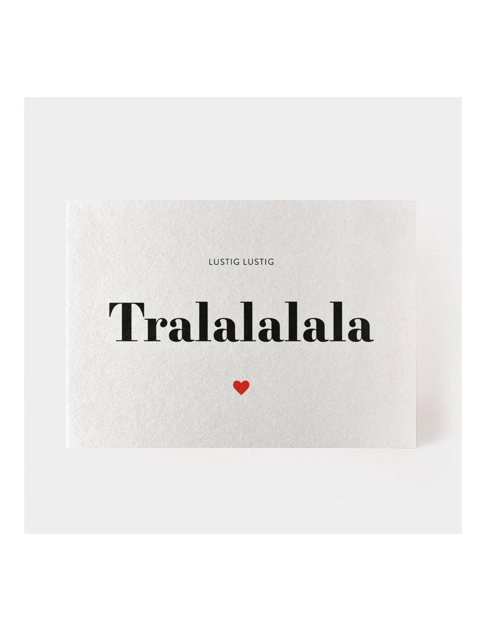 Postkarte - Lustig Tralalalala