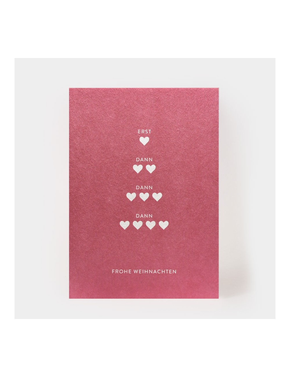 Postkarte - Vier Herzen /...