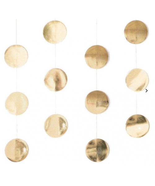 Girlande goldene Kreise - groß