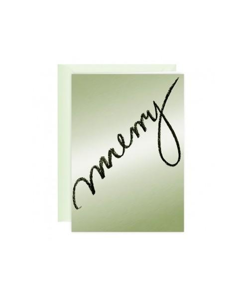 Grußkarte - Silverstar / Merry
