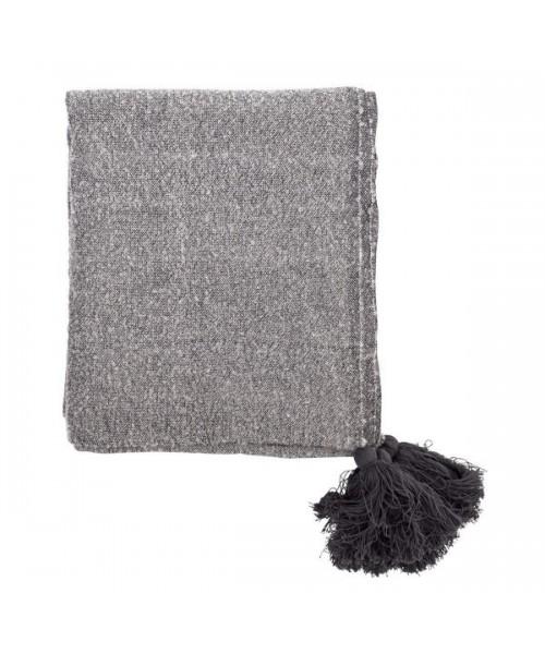 kuschelige Decke mit Quasten