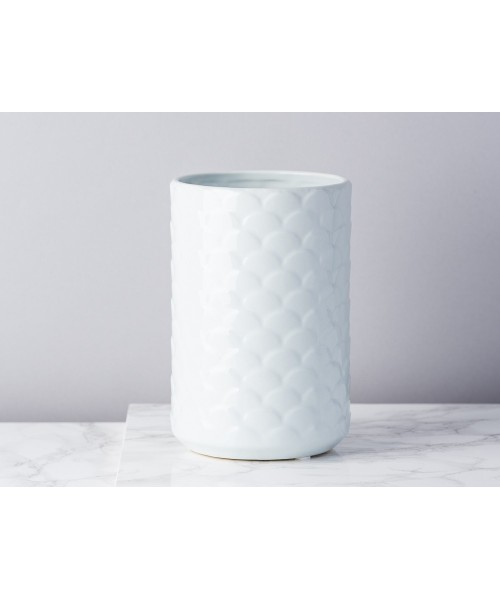 Schuppen-Vase Eisblau