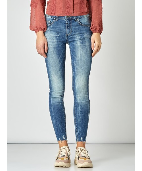 "Jeans ""Ania ripped"" - mid blue"