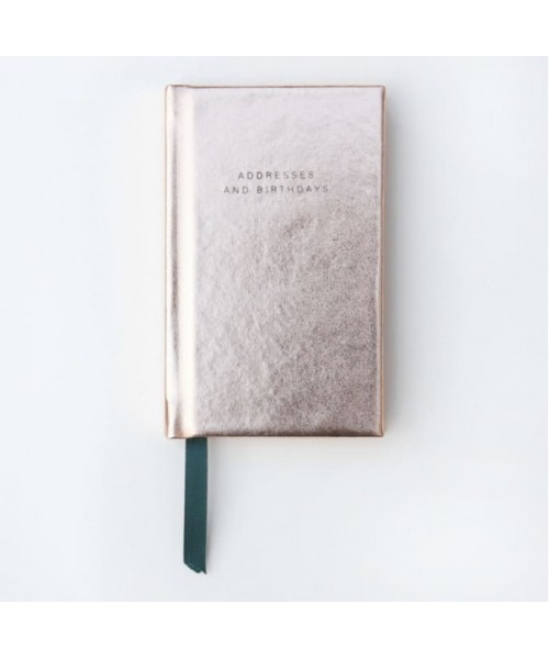 Adressbuch klein, gold