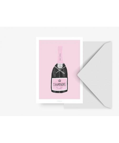 Postkarte - Champagne