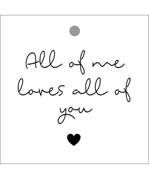Geschenketikett - All of me...